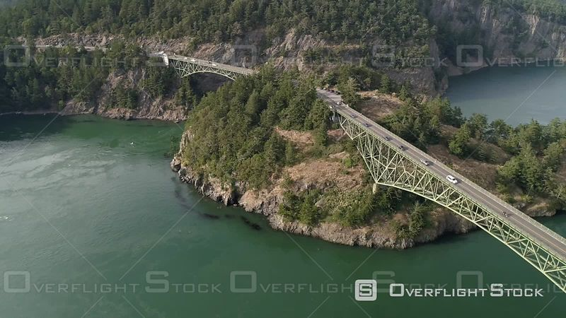 World famous bridge in Washington State the crosses Puget Sound San Juan Islands