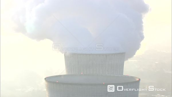 Past Tihange nuclear power plant in Huy, Belgium