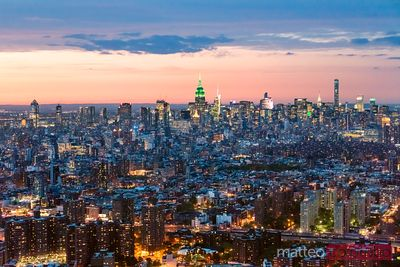 Aerial of Midtown Manhattan with Empire state building, New York, USA
