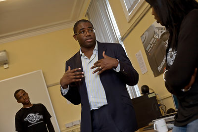 UK - London - David Lammy MP at the Youth Vibes Project