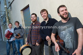 12th September, 2014.The band Porterhead from left to right:  Liam King, James Frawley,Paul McClure,Joe Junker and Lorcan Bra...