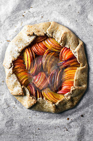 Peach, apricot, and nectarine galette