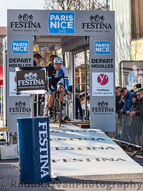The Cyclist Rick Flens- Paris Nice 2013 Prologue in Houilles