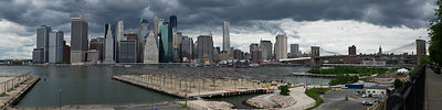 Lower Manhattan from Brooklyn panorama 2
