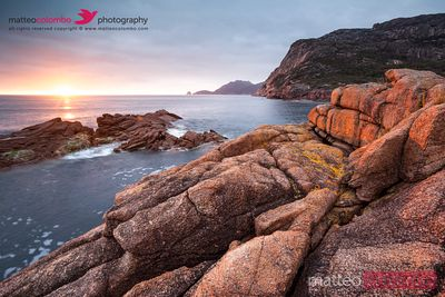 Sunrise over the coast of Tasmania, Australia