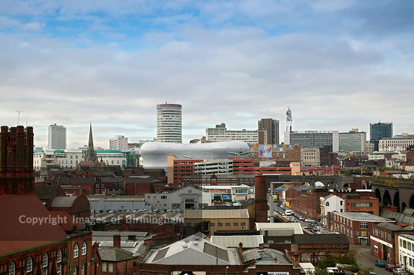 The Birmingham City Centre skyline