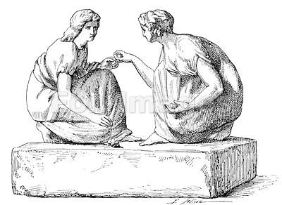 Roman women play game of hucklebones