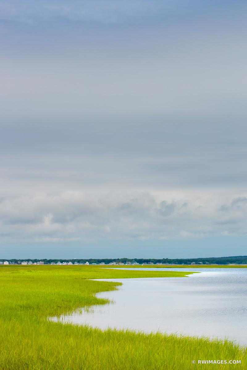SALTMARSH HAMPTON BAYS LONG ISLAND NEW YORK VERTICAL COLOR