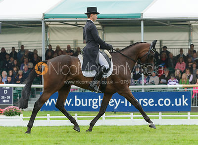 Kevin McNab and  CLIFTON PINOT - dressage phase,  Land Rover Burghley Horse Trials, 6th September 2013.