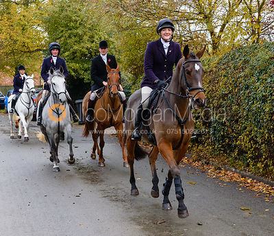 Jodie Parr leaving the meet. The Cottesmore Hunt at Braunston