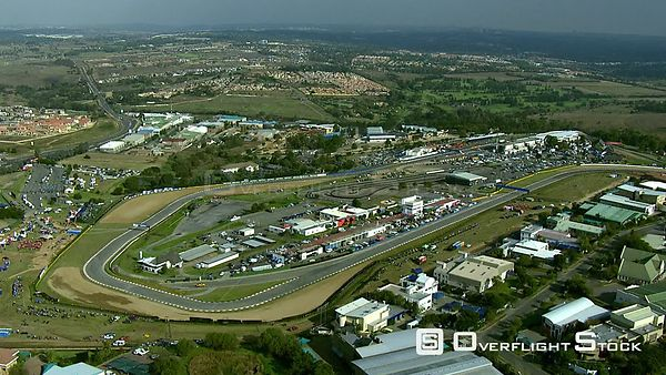Aerial of Kyalami Race Track and surrounding landscape. Gauteng South Africa