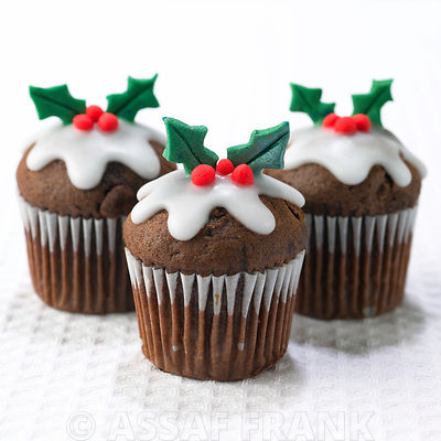 Christmas Holly Muffins