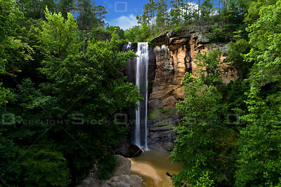 Toccoa Falls Waterfall in the North Georgia Mountains USA
