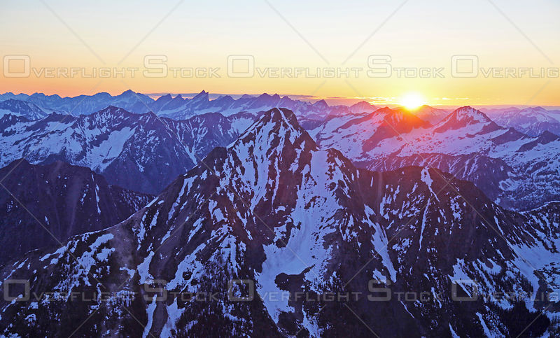 Mount Loki Sunrise Purcell Range Kootenays BC