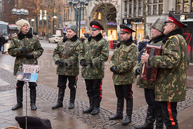 The Rostov Don Cossack Choir at the Hamburg Rathausmarkt Christmas Market