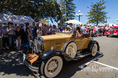 Art Deco Saturday 2012 - Vintage Car Parade.  License Plate = DW 1930