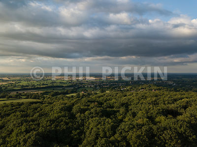 Aerial shot of Shropshire