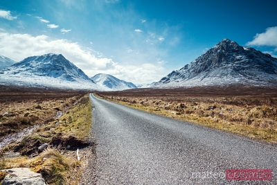Road to the highlands Glencoe Scotland UK