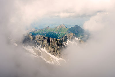 Lomnicks Peak, 26345m, one of the highest mountain peaks in the High Tatras mountains of Slovakia June 2012.