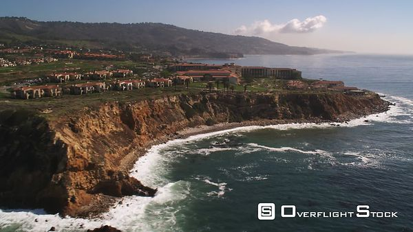 Flying Past Palos Verdes Peninsula, California.