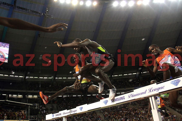 BRUSSELS, BELGIUM - SEPTEMBER 7: Paul Kipsiele Koech (KEN) 3rd place 3000m SC at the IAAF Golden League meeting at the Memori...