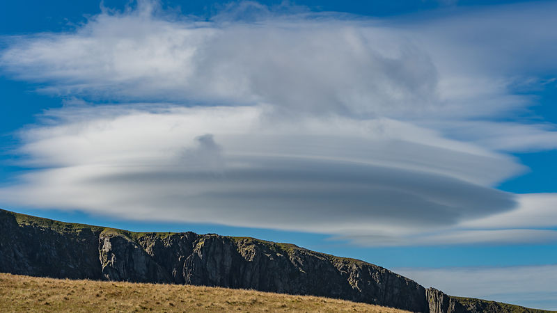 Lenticular Cloud over Mount Snowdon, Wales