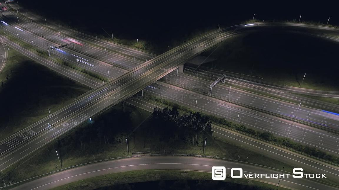 TimeLapse of a Busy UK Highway at Night