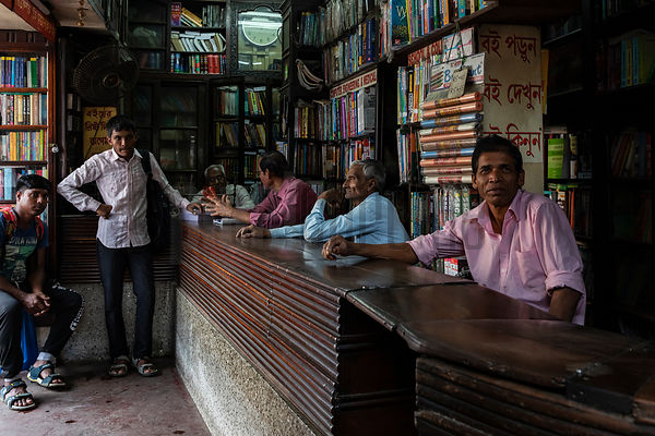 Booksellers at the College Street Book Market