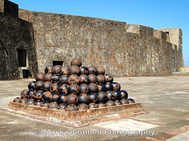 Castillo San Christobal cannon balls