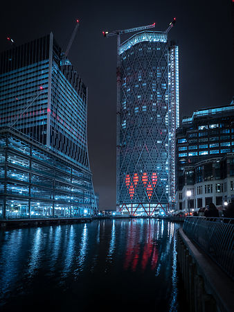 The hearts of Canary Wharf