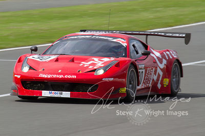 The AF Corse Ferrari 458 Italia GT3 team in action at the Silverstone 500 - the third round of the British GT Championship 20...