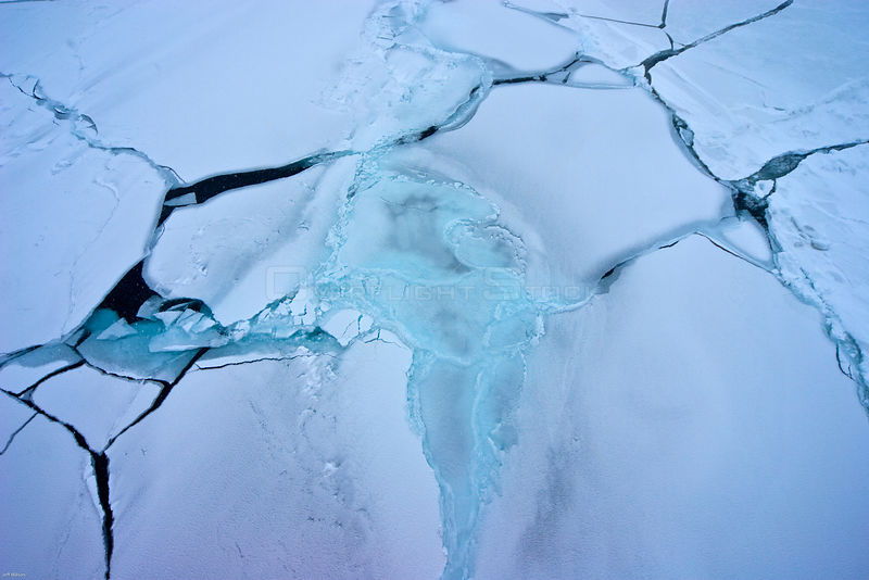 Sea ice forming in the Bering Sea, Alaska, USA, in March 2008. Taken on location for the BBC series, Frozen Planet.