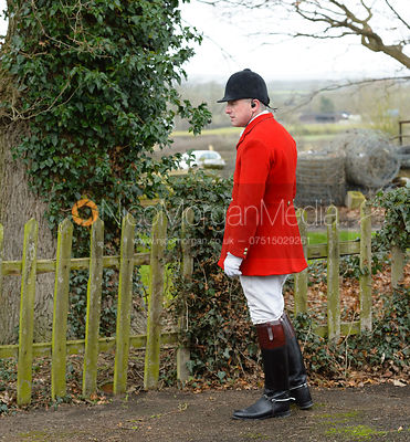 Michael Dungworth at the Belvoir Hunt meet at Mount Pleasant