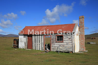 Typical Falkland Islands settlement building, here at Saunders Island Settlement