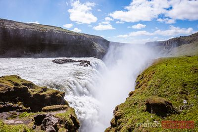 Mighty Gullfoss waterfall, Iceland