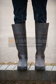 Equestrian style leather boots - royalty free image