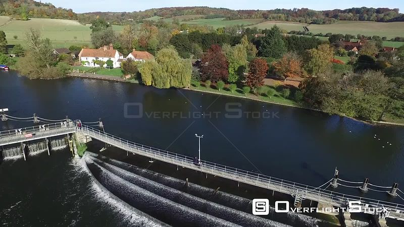 Hambleden Weir and Lock River Thames UK
