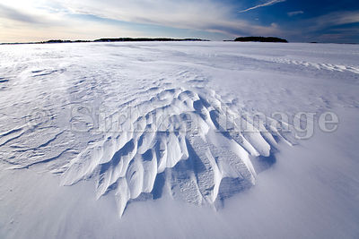 Baltic Sea covered by Ice in Archipelago National Park