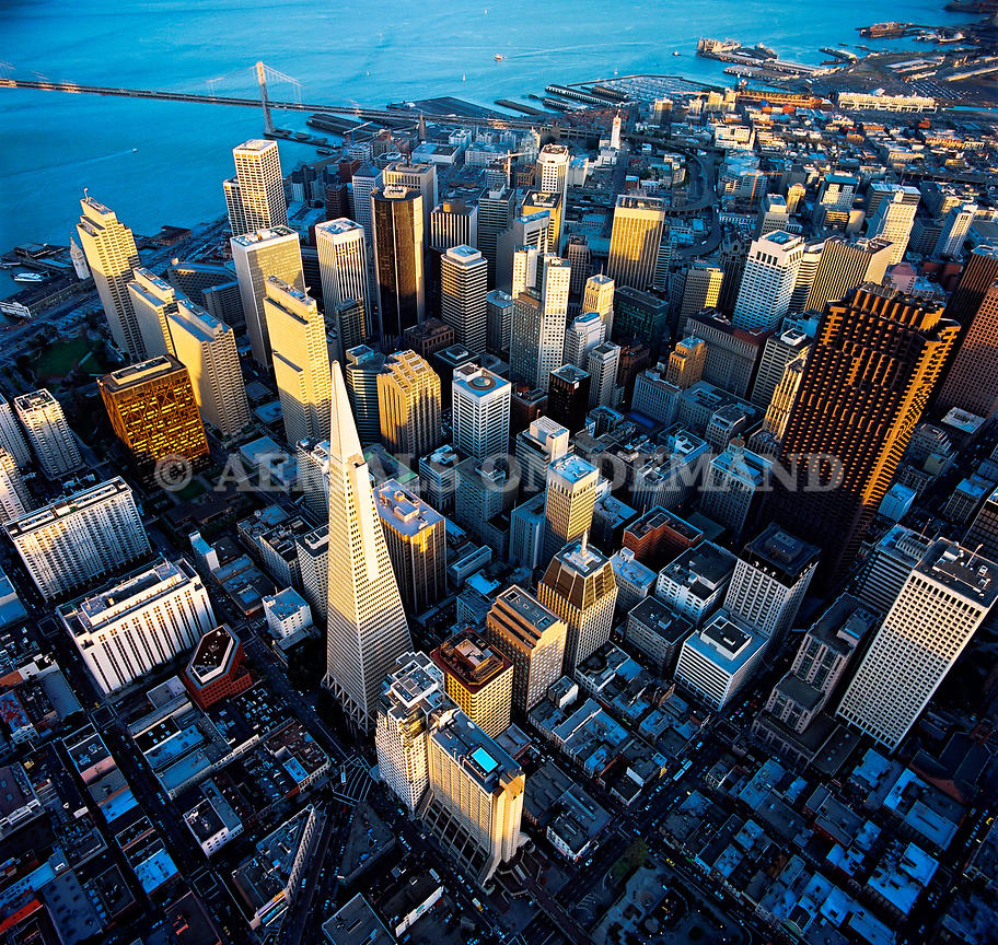 SAN FRANCISCO FINANCIAL DISTRICT SUNSET 2001