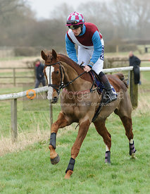Cantering to the start - Maiden Div I - Cottesmore at Garthorpe