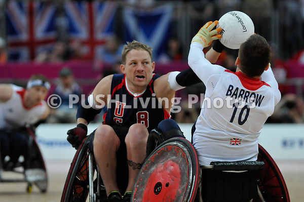 2012 Paralympics Wheelchair Rugby USA vs GBR