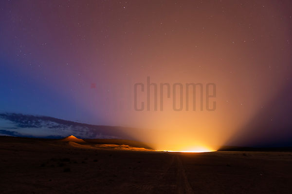 Door to Hell after Sunset