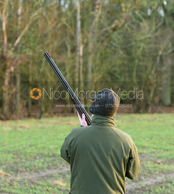 Game shooter from behind - Barnwell Shoot