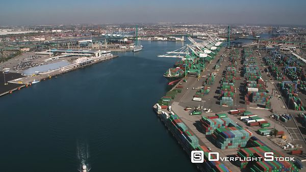 Past Container Terminal in Los Angeles Harbor.