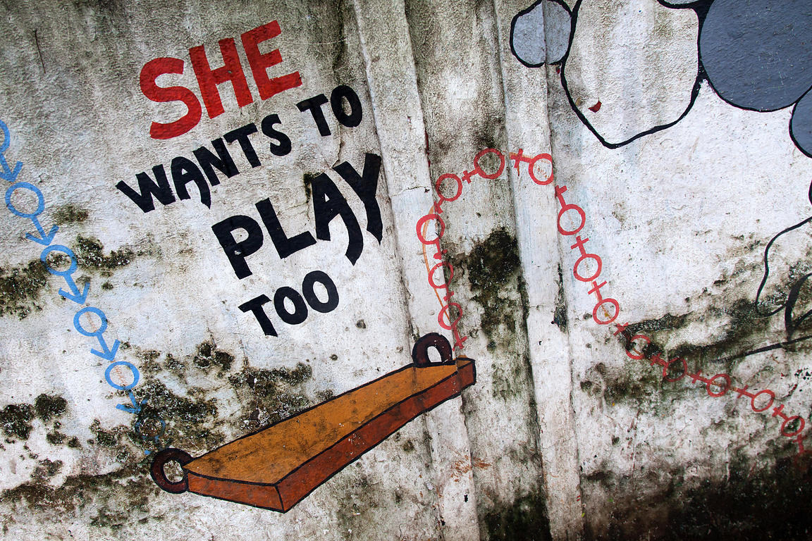 Brett Cole Photography Mural Art Dealing With Gender Equality Themes Done By Students Of The Sir J J Insititute For Applied Arts Bandra Mumbai I Photo