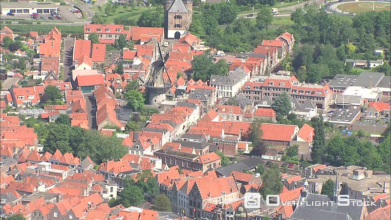 Zierikzee, The Netherlands, from the air