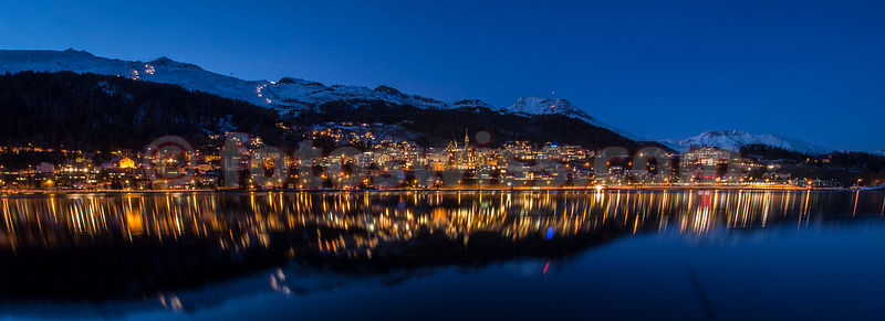 St.Moritz City by Night