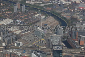 Greengate area of Salford Central regeneration area Manchester