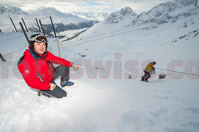 FIS Ski World Cup Downhill Men 2014 in St.Moritz