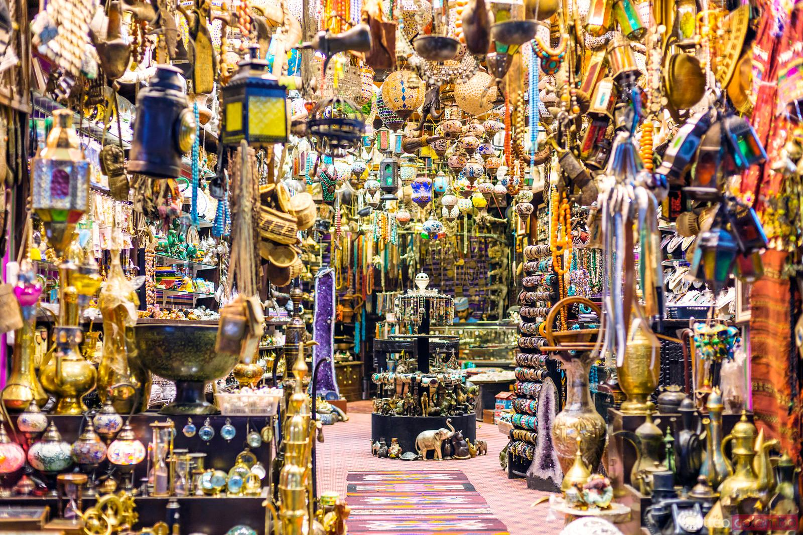 Oman, Muscat. Shop in the old Mutrah souk